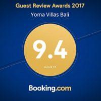 Yoma Villas Bali Booking Guest Review Award 2017